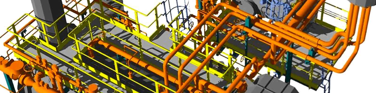 CADE plant engineering services: Basic & Detail Engineering​: detailed 3D modeling