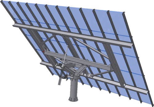 dual axis PV solar tracker structural engineering services