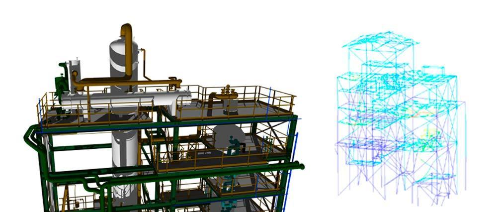 Análisis: problemas de vibraciones en edificio de proceso con equipos dinámicos (vibration analysis on process units with dynamic equipment)