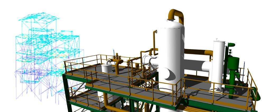 Análisis de vibraciones en edificio de proceso con equipos dinámicos (vibration analysis on process units with dynamic equipment)