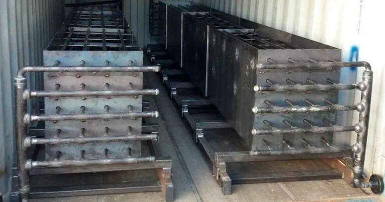 Pre-assembly of solidTES modules (62KWt - 300 KWh). Ready to shipment to EDITOR plant in Cyprus