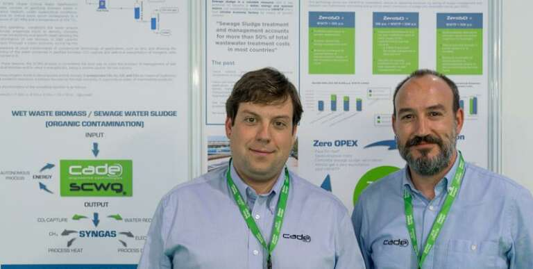 Victor Ruiz and Miguel Angel Garcia at ReGen Europe introducing Supercritical Water Gasification SCWG