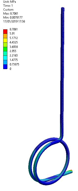 Análisis FEA conexión flexible de tubería propuesta alternativa