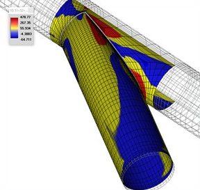 analisis de una derivacion de gran diametro mediante fea software nozzelpro