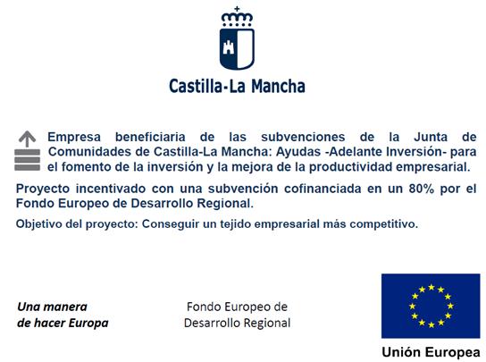 PROYECTO ADELANTE INVERSION LAB 4.0 PARA EL FOMENTO DE LA INVERSION Y LA MEJORA DE LA PRODUCTIVIDAD EMPRESARIAL EN CASTILLA LA MANCHA.