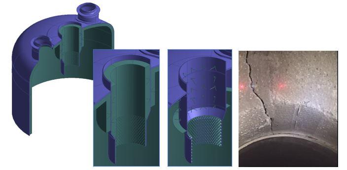 Analisis por elementos finitos de la degradacion de refractario en equipos a presion