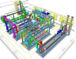 Fig. Modelo 3D (maqueta inteligente). Estación De regulación de Gas.