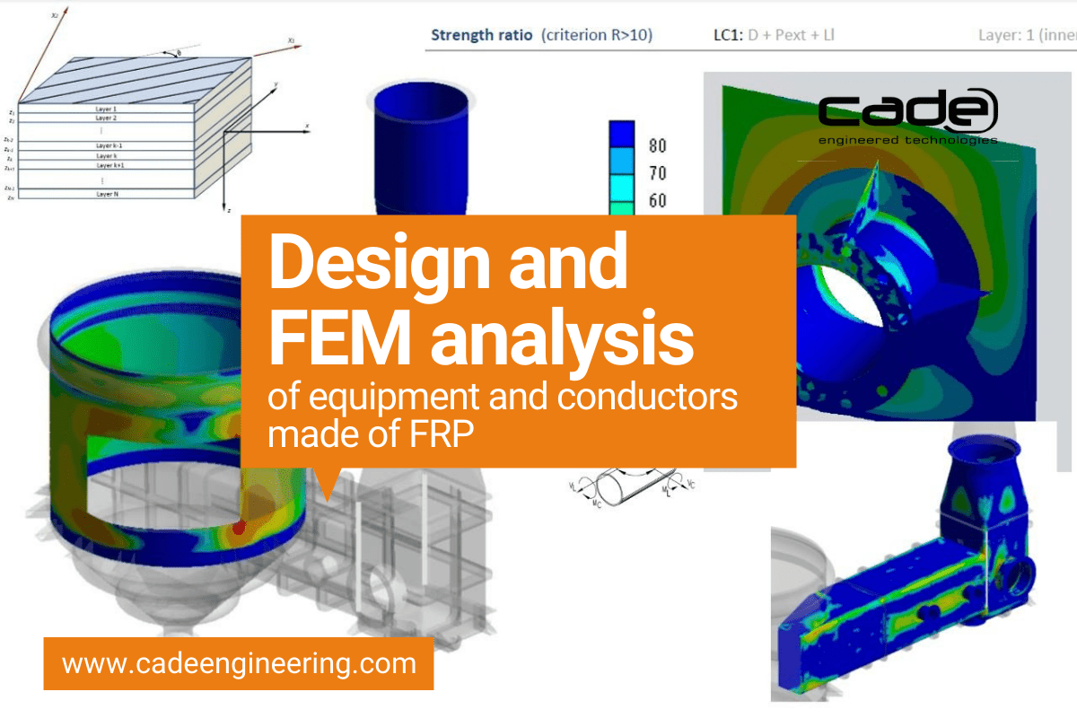 Design and FEM Analysis of equipment and conductors made of FRP