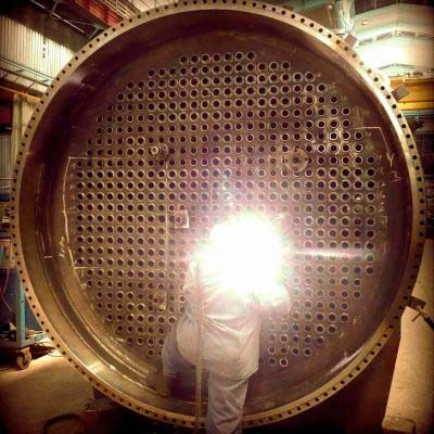 Heat Transfer Equipment Waste Heat Boiler Manufacturing. Courtesy of GRIRO. Equipos de Transferencia de calor
